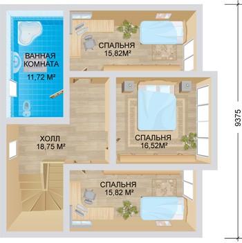 """Проект дома """"Европа"""", второй этаж"""
