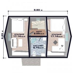 "Проект дома ""Новая Флоренция"", план второго этажа"