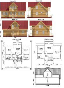 """Проект дома """"11 на 6"""" Общая площадь 132 кв. м2"""