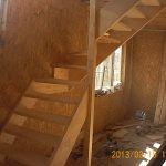 Деревянная лестница в сип доме, Калининград