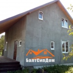 Фасад каркасного дома, БалтСипДом