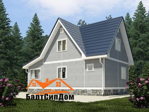 Проект дома из SIP панелей в Калининграде, БалтСипДом