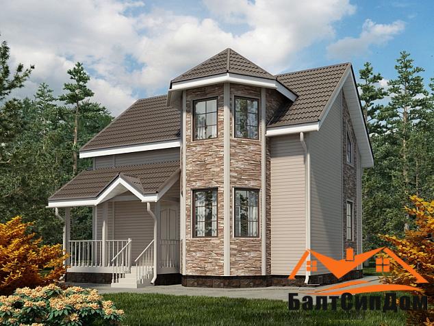 Проект дома из сип панелей до 150 м2, БалтСипДом