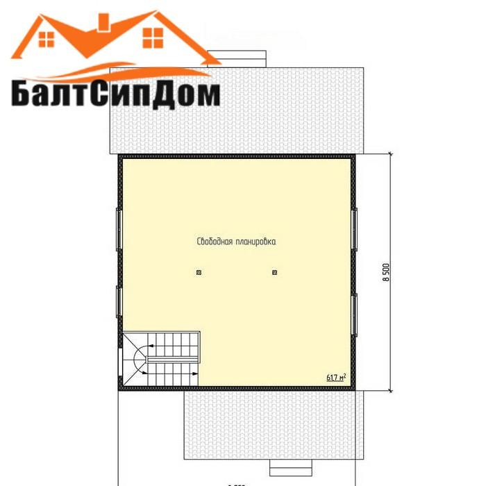 Проект дома, второй этаж