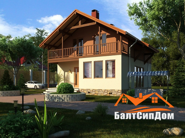 Проект быстровозводимого каркасного дама, Калининград