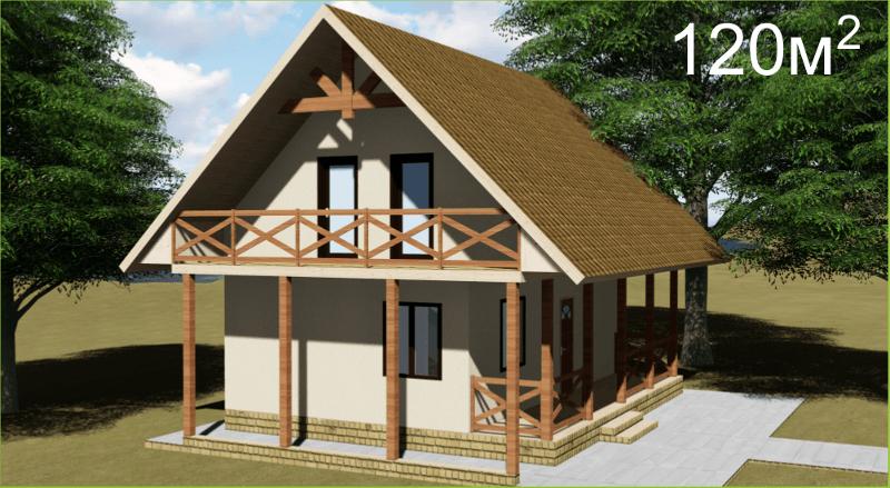 Проект дома из СИП панелей по военной ипотеке
