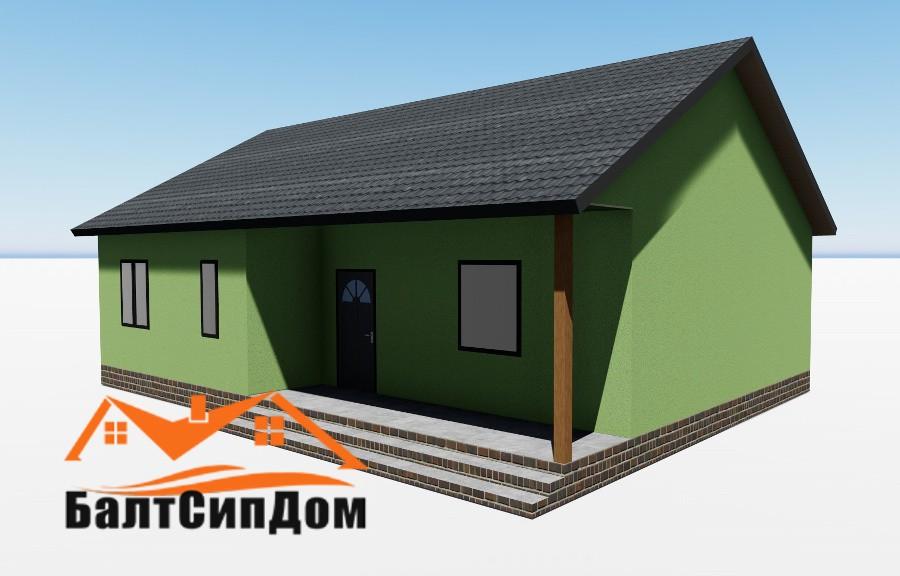 Дом из СИП панелей - проект