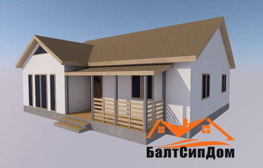 Сип дом (домокомплект из СИП панелей) - проект