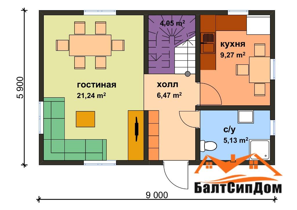 СИП дом - план этажа