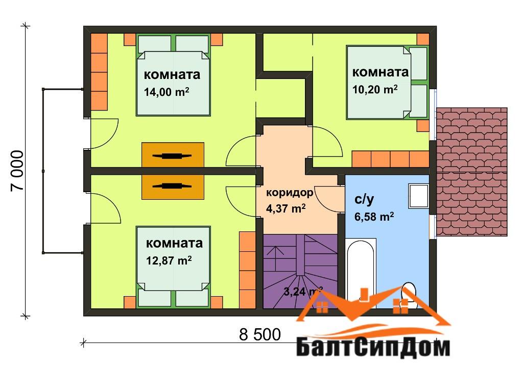СИП дом- план этажа