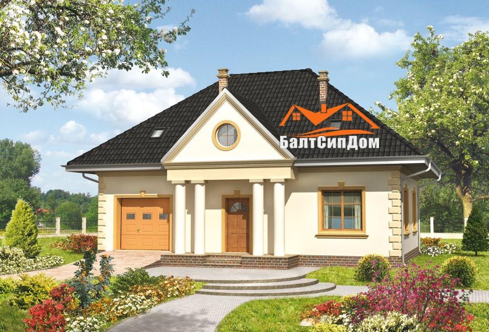 Проект СИП дома с гаражем