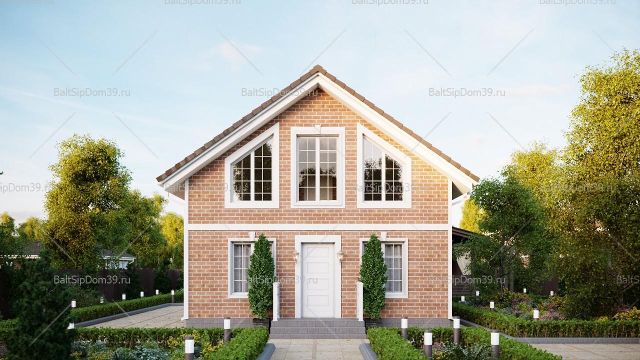 Проект двухэтажного дома из СИП панелей