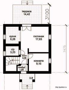 План первого этажа Проект СИП-121