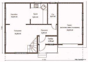 План первого этажа Проект СИП-123