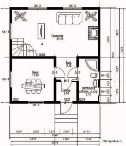 План первого этажа дома Проект СИП 103