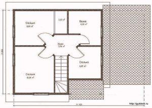 План второго этажа Проект СИП-123