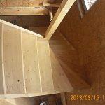 Деревянная лестница в сип доме, БалтСипДом