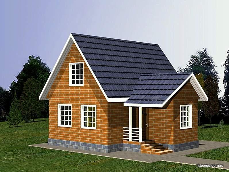 Проект дома с мансардой СИП-45 площадью 92 м2